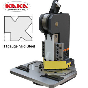 Kaka Hn 3 102 Heavy duty Metal Corner Notcher 4x4 Blade 11 ga Mild Steel