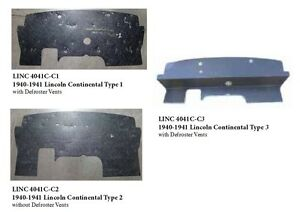 1940 1941 Lincoln Continental Firewall Pad Type 2