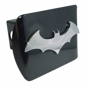 Batman 3d Bat All Metal Black Hitch Cover