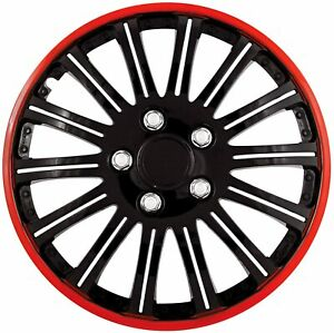 Pilot Bully Cobra Black Chrome With Red Accent 16 Inch Wheel Cover Wh527 16