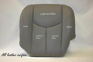 2005 Cadillac Escalade Esv Ext Awd 2wd Leather Driver Bottom Seat Cover Gray