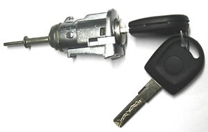 New For Volkswagen Jetta Golf Passat Driver Door Lock Key Cylinder W 2 Keys