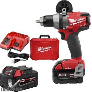 Milwaukee M18 Fuel 1 2 Drill driver With One key Kit 2705 22 New