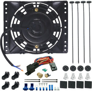 6 Inch Electric Cooling Fan 3 8 Thermostat Sensor Kit Atv Tractor Mower Camper