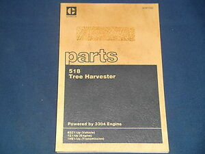 Cat Caterpillar 518 Tree Harvester Skidder Parts Book Manual S n 8zc1 up