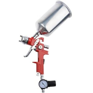 Hvlp Spray Gun 1 3 1 4 2 5mm Tip Auto Paint Gauge Gravity Feed Nozzle Flake Car