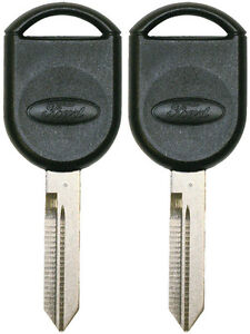 2 New Ford Oem 80 Bit Chipped Uncut Transponder Ignition doors Key Oval Logo