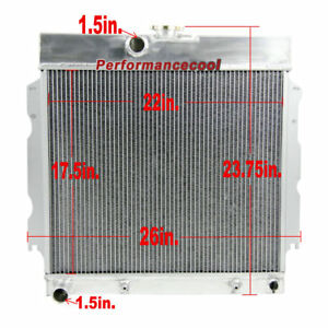 2 Row Aluminum Radiator For 63 67 Dodge Charger dart Plymouth Fury valiant V8