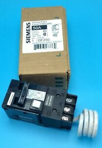 New Circuit Breaker Siemens Qf250a 50 Amp 2 Pole 120 240v Self Test Gfci Qf250