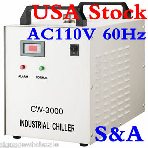 Usa S a 110v Industrial Water Chiller Cw 3000dg For 60w 80w Cnc Laser Engraver