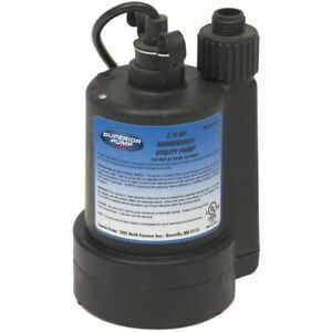 Superior Pump 91250 30 Gpm 1 1 4 Submersible Utility Pump