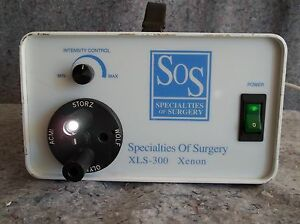 Specialties Of Surgery Xls 300 Xenon Rapid Light Source With Head Lights