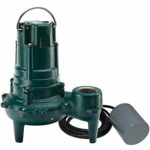 Zoeller Bn267 1 2 Hp Cast Iron Sewage Pump 2 W Variable Level Float Switch