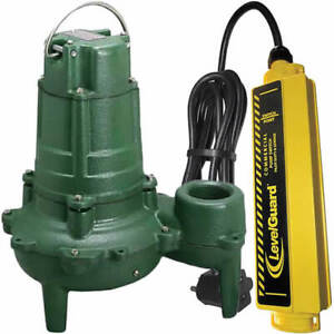 Zoeller N267 1 2 Hp Cast Iron Submersible Sewage Pump 2 W Levelguard Se