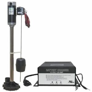 Zoeller 585 Aquanot reg Ii Battery Backup Pedestal Sump Pump System 2160 Gp