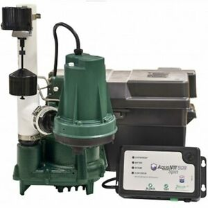 Zoeller Propack98 1 2 Hp Combination Primary Backup Sump Pump System