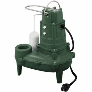 Zoeller M267 1 2 Hp Cast Iron Sewage Pump 2 W Vertical Float