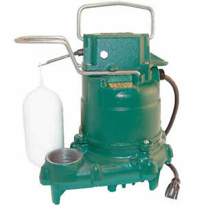 Zoeller M57 1 3 Hp All Cast Iron Submersible Sump Pump W Vertical Float Sw