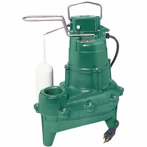 Zoeller M264 4 10 Hp Cast Iron Sewage Pump 2 W Vertical Float