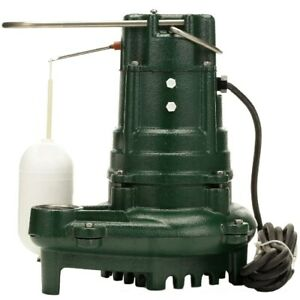 Zoeller M137 1 2 Hp Cast Iron Effluent Pump W Vertical Float Switch