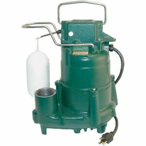 Zoeller M98 1 2 Hp Cast Iron Submersible Sump Pump W Vertical Float Switch