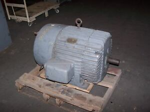 New Ge 100 Hp Electric Ac Motor 208 220 440 Vac 3560 Rpm 405ts Frame 3 Phase