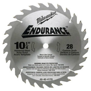 Milwaukee 48 40 4170 10 1 4 X 28 Tooth Carbide Circular Saw Blade New
