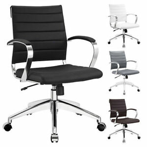Jive Office Chair Ribbed Mid Low Back Executive Management Modern Task Chair