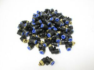 Lot Of 100 New Pneumatic Push in Fitting 4mm Tubing 90 Elbow M5 X 0 8 Thread