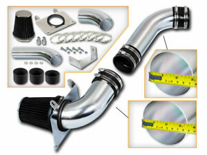 Black Cold Air Intake Kit Dry Filter For Ford 89 93 Mustang 5 0l V8 Gt Lx