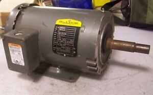 Baldor 1 Hp Electric Ac Motor 208 230 460 Vac 1725 Rpm 143jm Frame 3 Phase