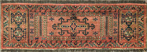 20 X 60 Amazing Antique Turkoman Torba Bag Face Oriental Rug Excellent 16021