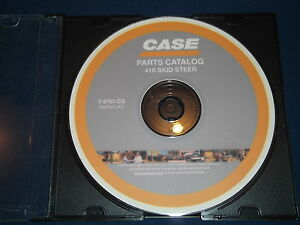 Case 410 Skid Steer Parts Book Manual Cd