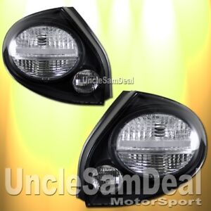 02 03 For Nissan Maxima Clear Lens Black Housing Tail Lights Direct Fit Pair