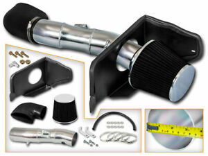 Black Cold Air Intake Kit Dry Filter For Ford 05 09 Mustang Gt 4 6l V8