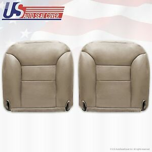 1995 To 1999 Chevy Suburban Driver Passenger Leather Bottom Seat Covers Tan