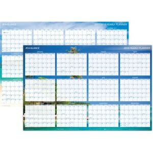 At a glance Erasable reversible Horizontal Wall Planner Dmwtee28