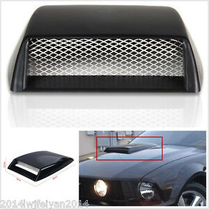 Autos Car Decorative 3d Simulation Air Flow Intake Hood Scoop Bonnet Vent Cover Fits 2005 Ford Mustang