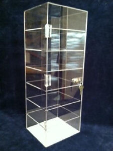 Locking Jewelry Display Case 8x7x22 5 Sunglasses Knives collectibles