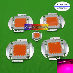 10w 20w 30w 50w 100w Cob Full Spectrum Led Chip 400nm 840nm Plant Grow Light b