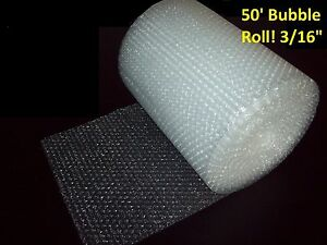 50 Foot Bubble Wrap Roll 3 16 small Bubbles 12 Wide Perforated Every 12