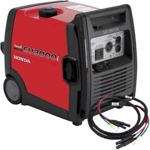 Honda Eu3000 Handi Inverter Generator With Parallel Cables Kit single Genera