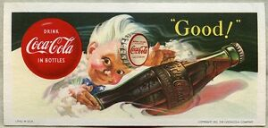 Beautiful 1953 Coca-Cola Advertising Ink Blotter featuring Sprite Boy