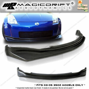 For 03 04 05 Nissan 350z Z33 Jdm Style Pu Front Bumper Lip Kit Nism N1 Urethane