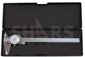 Shars 0 8 X 0 1 4 Way Dial Caliper Stainless Steel Shock Proof New