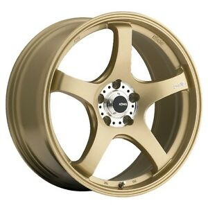 19x9 5 Konig Centigram 5x114 3 25 Gold Wheels set Of 4