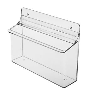 Outdoor 8 5 w X 4 h Literature Brochure Holder Display Horizontal Box Pack Of 6