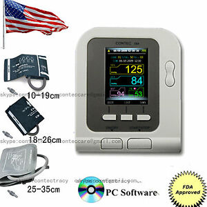Contec08a 3 Cuffs adult child infant Digital Electronic Blood Pressure Monitor