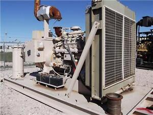 Cat 3408 Natural Gas Genset 480 Volt 255 Kw Skid Mounted