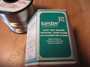 1 Pound Roll 031 Kester Silver Solder Sn96 5ag03 5 Sld Solid Core Eutectic Usa